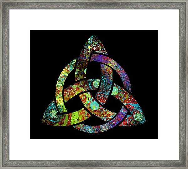 Celtic Triquetra Or Trinity Knot Symbol 3 Framed Print