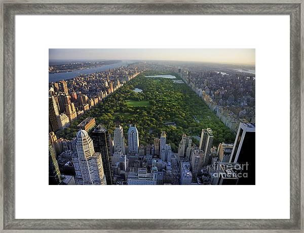 Central Park Aerial View, Manhattan Framed Print