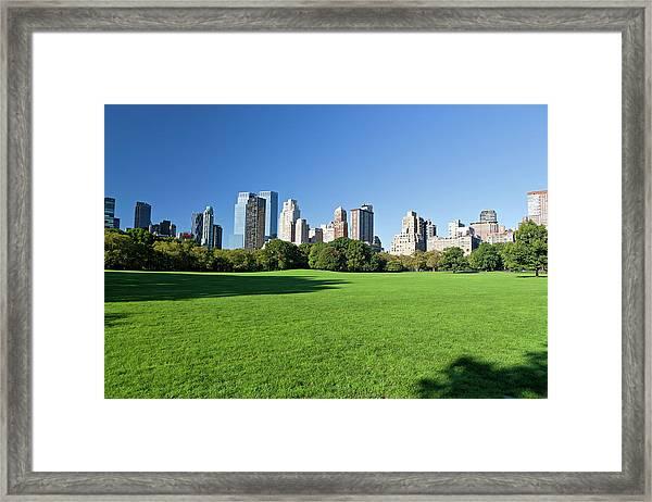 Central Park Manhattan New York Framed Print