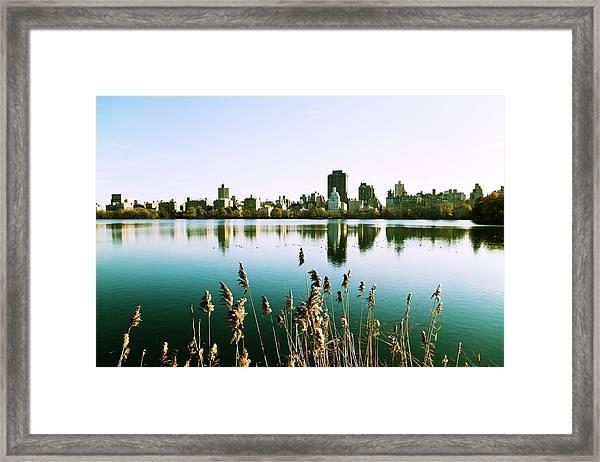 Central Park Reservoir Framed Print