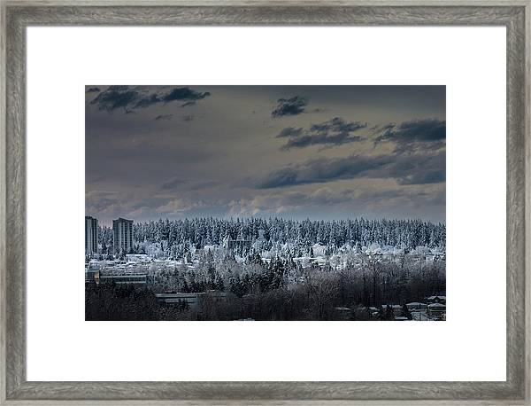 Framed Print featuring the photograph Central Park Winter by Juan Contreras