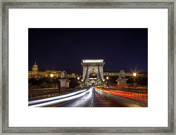 Chain Bridge Traffic Framed Print by Andrew Soundarajan