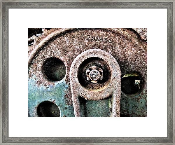 Chain Gear Framed Print