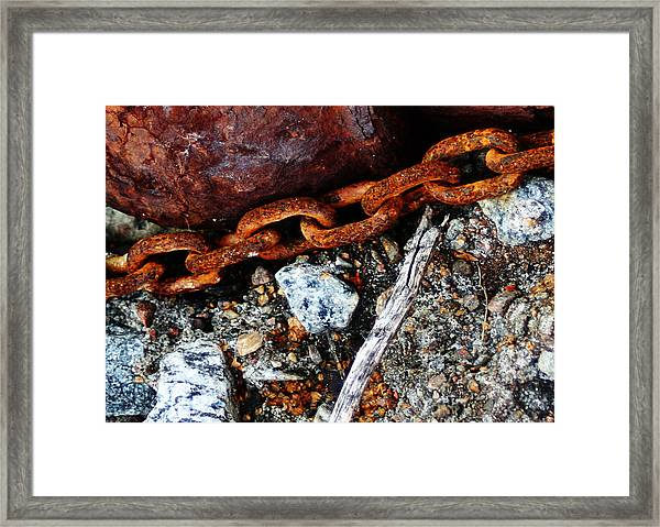Chained To The Past 2 Framed Print