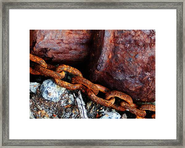 Chained To The Past Framed Print