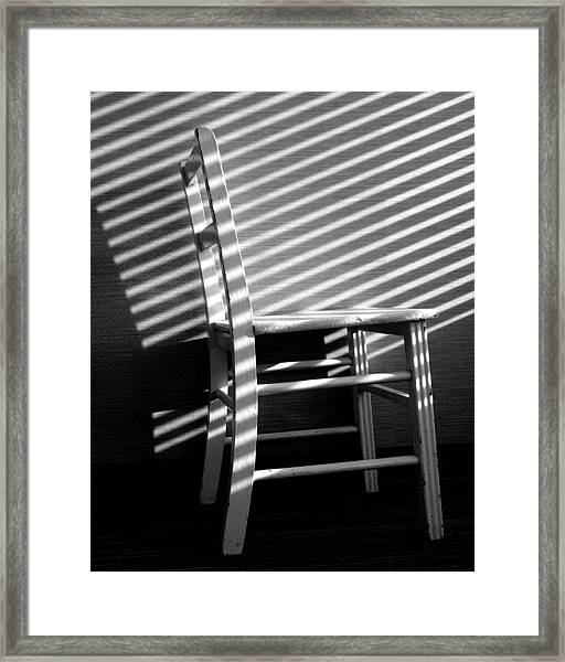 Blinds 1 / The Chair Project Framed Print