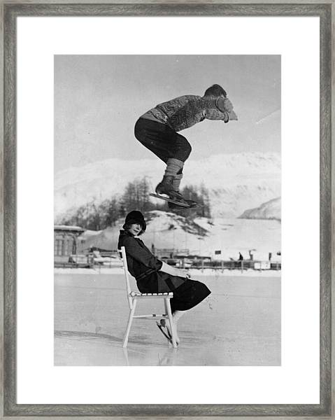 Chair Skate Leap Framed Print