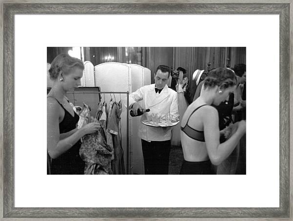 Champagne Break Framed Print