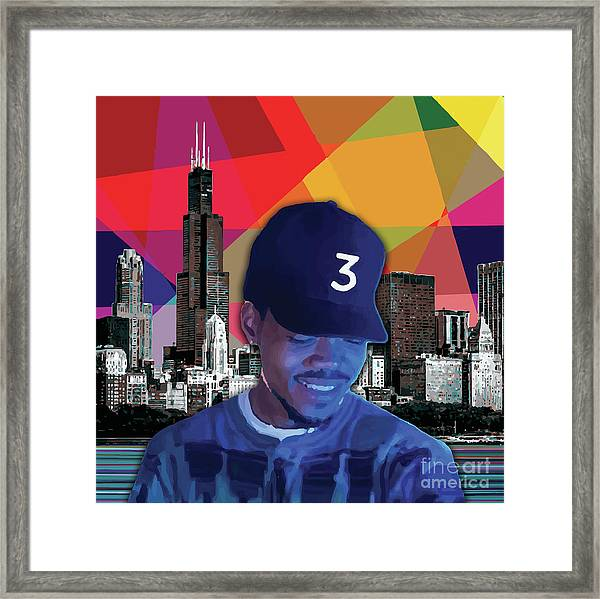 Framed Print featuring the painting Chance Chicago by Carla B