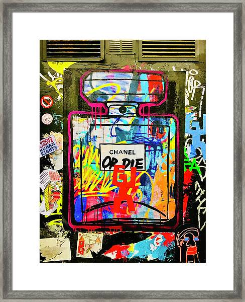 Chanel Or Die That Is The Question  Framed Print