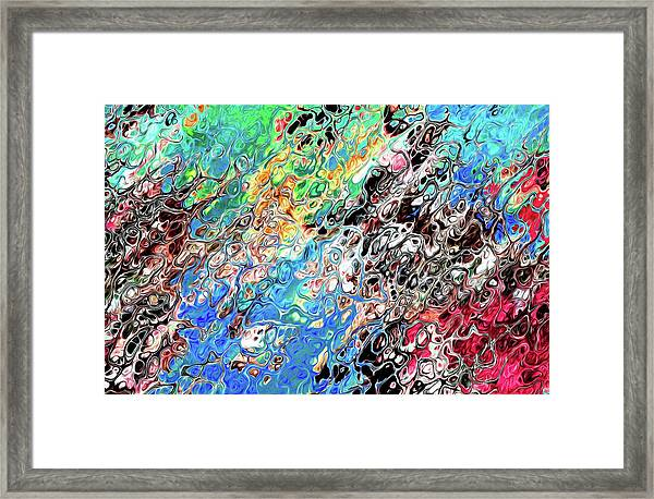 Chaos Abstraction Bright Framed Print