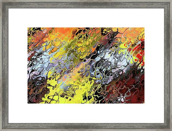 Chaos Abstraction Orange Framed Print
