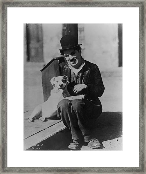 Chaplin And Mutt Framed Print by Fpg