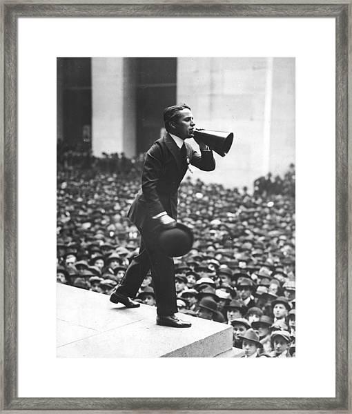 Chaplin Sells War Bonds Framed Print by Fpg