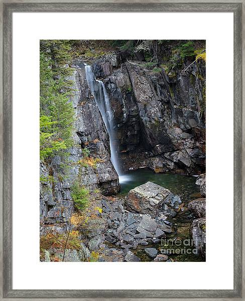 Char Falls Autumn Framed Print