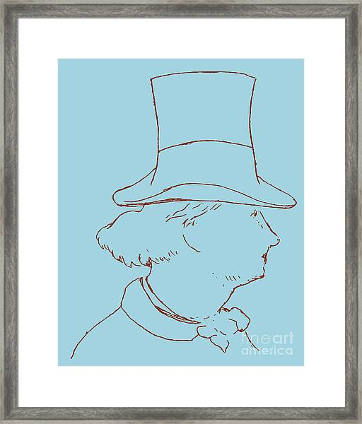 Charles Baudelaire By Edouard Manet Framed Print