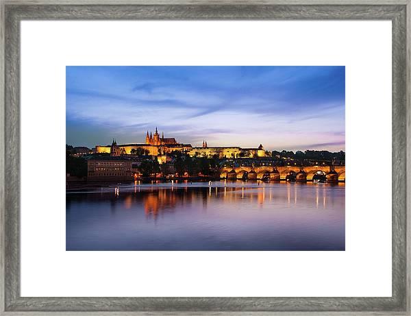 Framed Print featuring the photograph Charles Bridge by Milan Ljubisavljevic