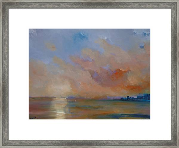 Charles Fort Kinsale Below A Painted Sky Framed Print by Conor Murphy