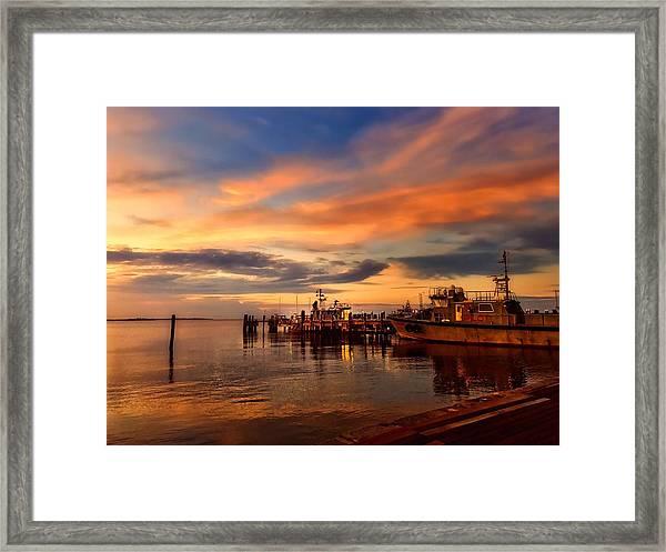 Charleston Dawn Framed Print