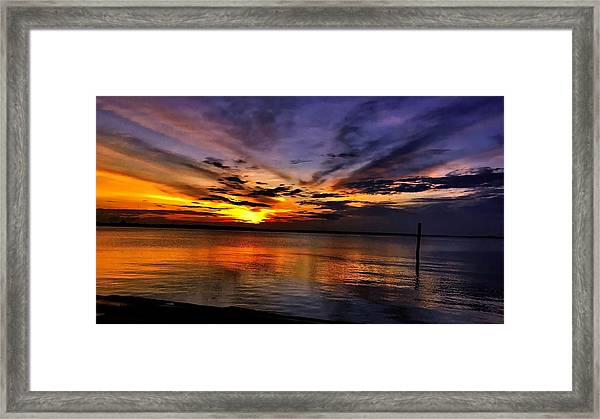 Charleston Gold Framed Print