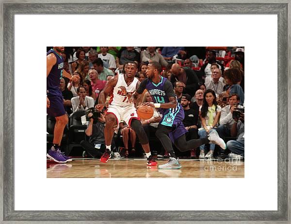 Charlotte Hornets V Miami Heat Framed Print