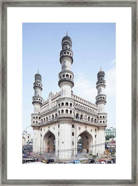 Charminar Monument In Hyderabad Framed Print