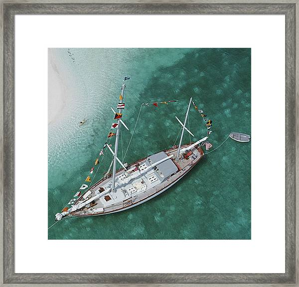 Charter Ketch Framed Print