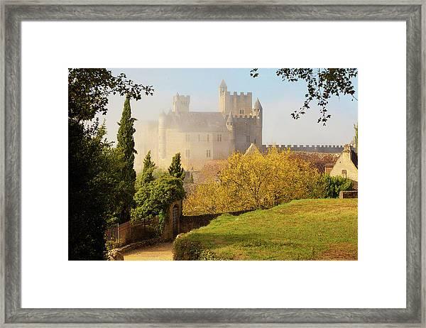 Chateau Beynac In The Mist Framed Print