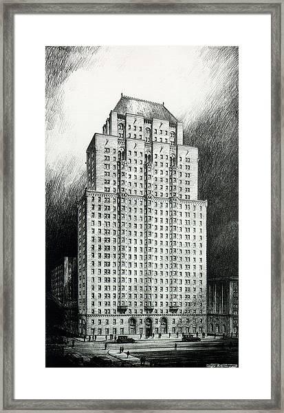 Chateau Crillon Framed Print