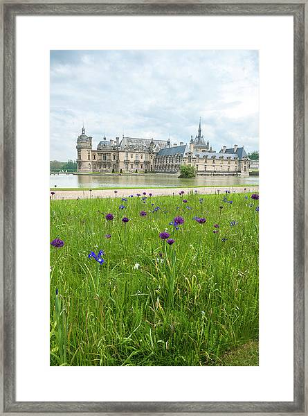 Chateau De Chantilly, Chantilly, France Framed Print by Lisa S. Engelbrecht