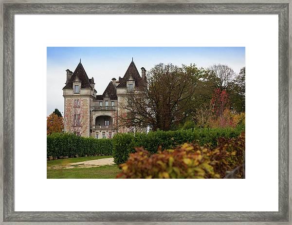 Chateau, Near Beynac, France Framed Print