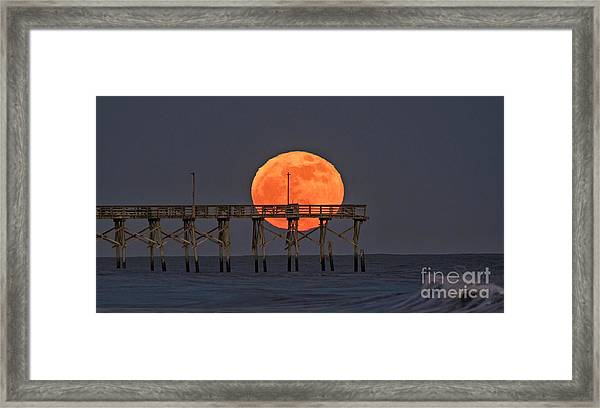 Framed Print featuring the photograph Cheddar Moon by DJA Images