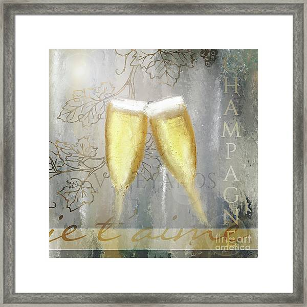 Cheers To Love Framed Print