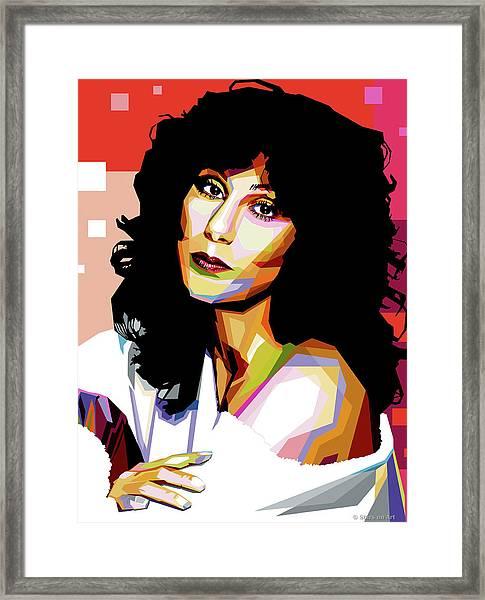 Cher Framed Print