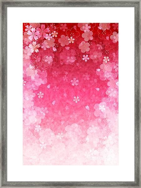 Cherry Plum Greeting Cards Framed Print by Jboy