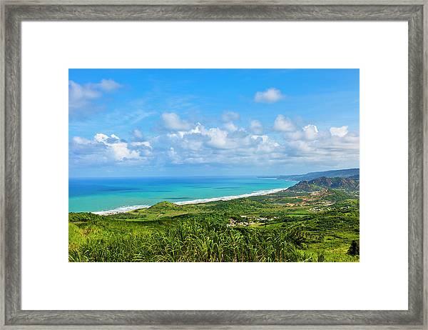 Cherry Tree Hill, Barbados Framed Print