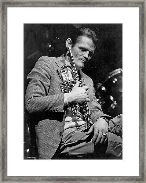 Chet Baker Performing Framed Print