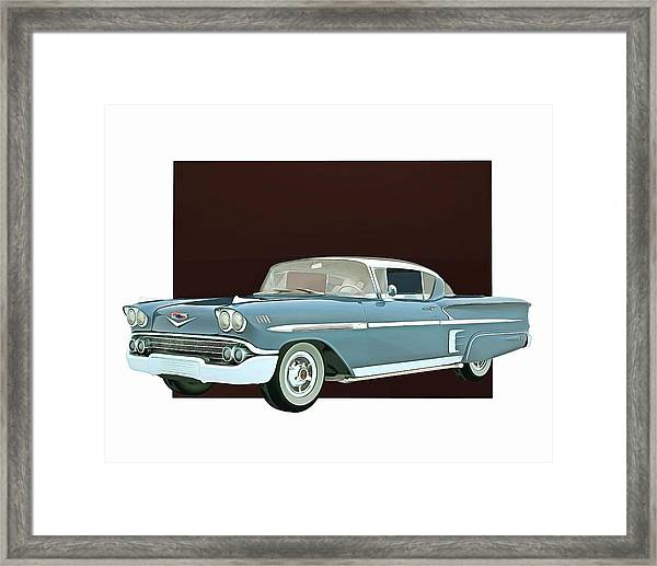 Framed Print featuring the digital art Chevrolet Impala Special Edition by Jan Keteleer