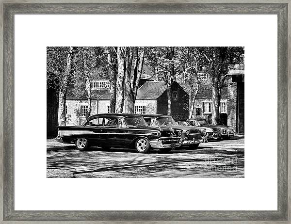 Chevrolets Monochrome Framed Print by Tim Gainey