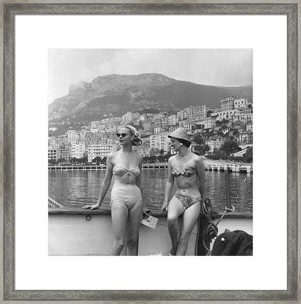 Chic Bikini Framed Print by Bert Hardy