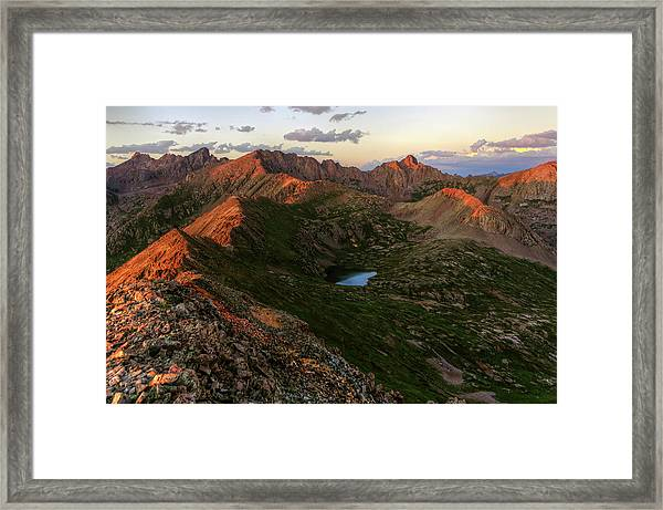 Chicago Basin Sunset Framed Print by Photo By Matt Payne Of Durango, Colorado