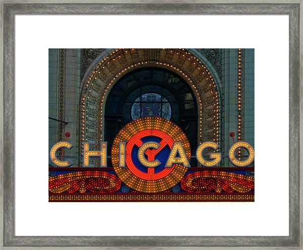Chicago Emblem Framed Print by By Ken Ilio