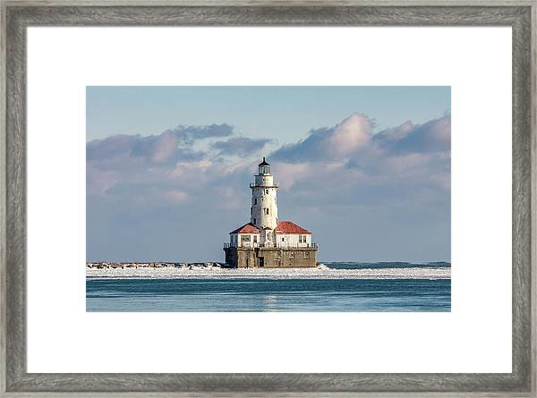 Chicago Harbour Light Framed Print