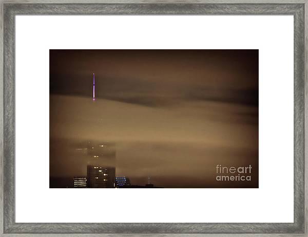 Chicago In Fog Framed Print