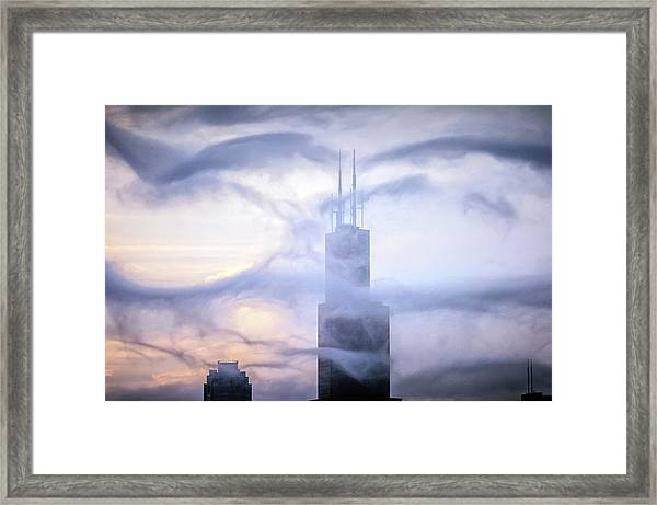 Chicago Tops No. 2 Framed Print by By Ken Ilio