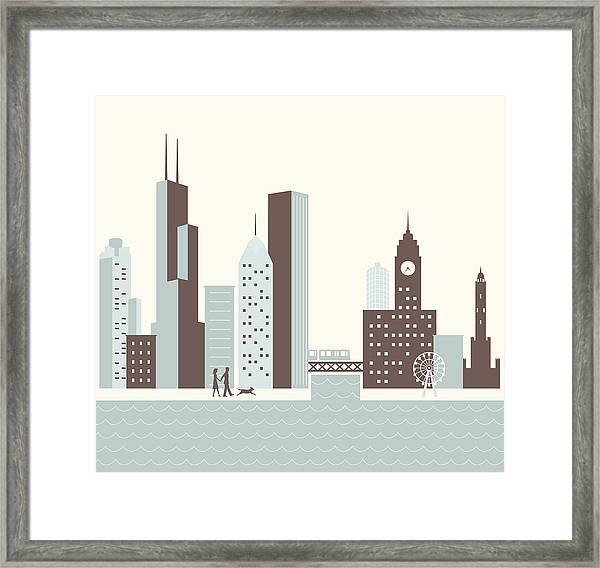 Chicago Walk Framed Print