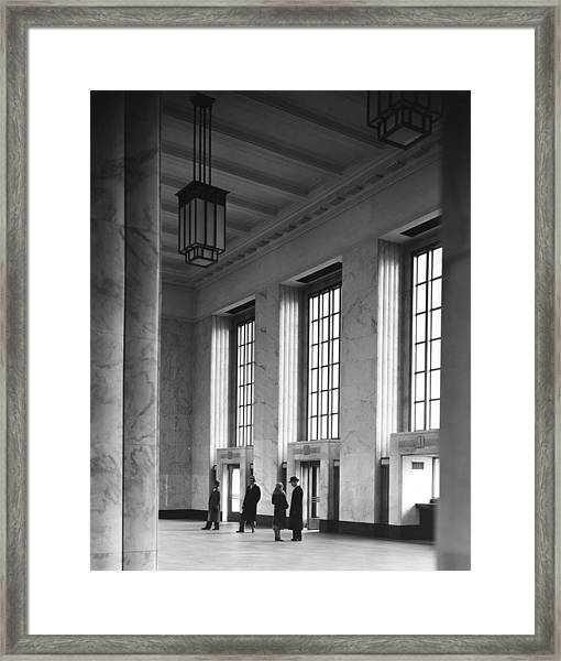 Chicagos Main United States Postal Framed Print by Chicago History Museum