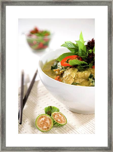 Chicken Green Curry Framed Print