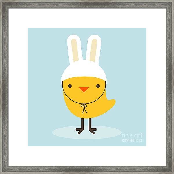 Chicken Rabbit Framed Print
