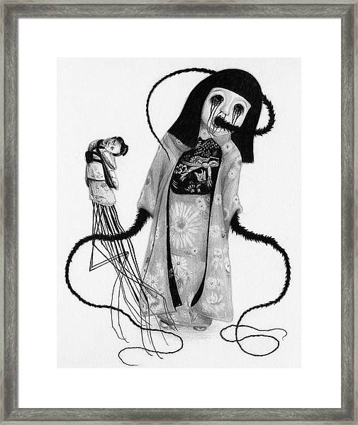 Chikako The Doll Girl Of Kanagawa - Artwork Framed Print